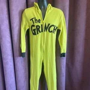 Dr. Seuss The Grinch Adult Onesie Pajama - Large